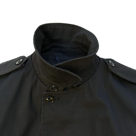 85s US Military / Stain Collar Coat / Black / Used
