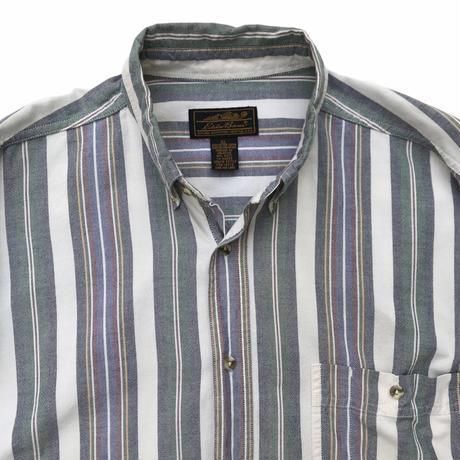 80s Eddie Bauer / Cotton Multi Striped B.D Shirt / Multi / Used