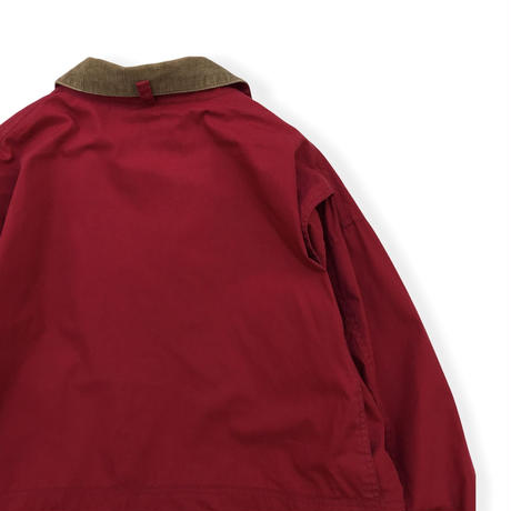 90's J.CREW / Check Lined Hunting Coat / Burgundy XL / Used