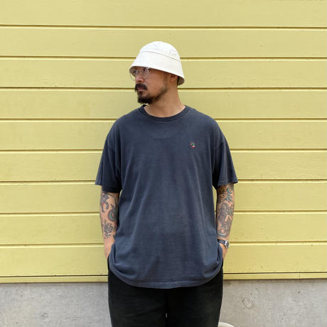 Made in USA / 90's Duck Head / One Point Logo Tee / Black / Used
