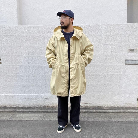 Dead Stock / US Military Fish Tail Snow Parka Overdyed Custom / Cream