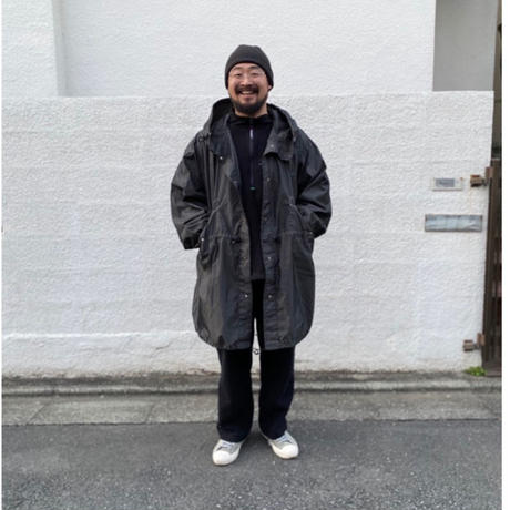 Dead Stock / US Military Fish Tail Snow Parka Overdyed Custom / Black