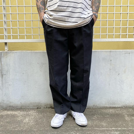 Old Striped 2 Tuck Slacks / Black / Used