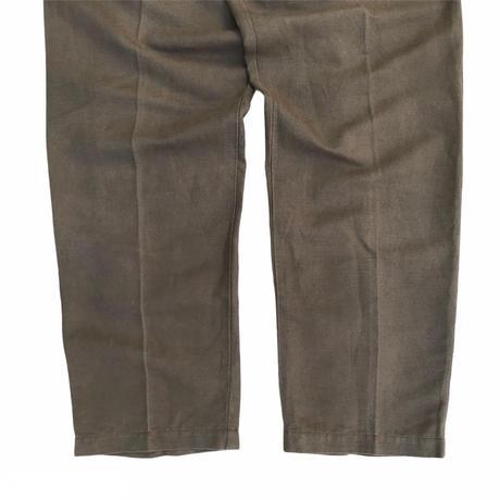 90s Eddie Bauer / Linen Blend 2 Tuck Slacks / Khaki / Used