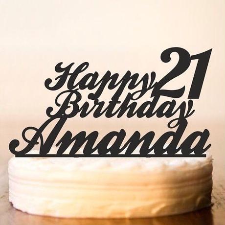 誕生日用ケーキトッパー