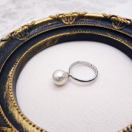 宇和島産 大粒9.5mm あこや真珠の指輪