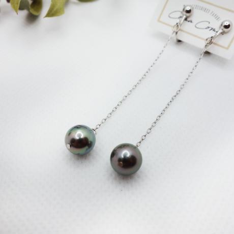 黒蝶真珠 ロングイヤリング