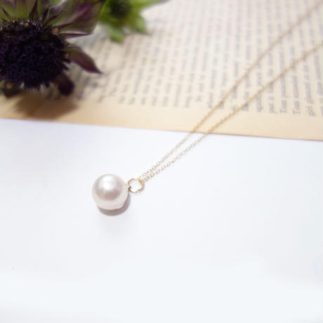 Akoya Pearl Pendant Necklace 9.5mm