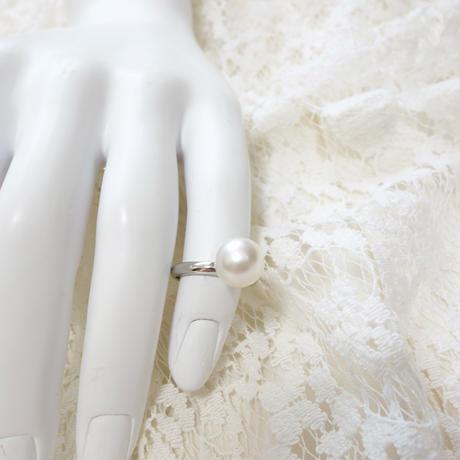 白蝶真珠の指輪