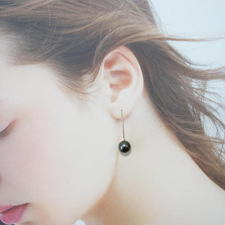 黒蝶真珠 タヒチパール ピアス