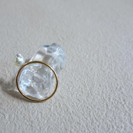 あこやベビーバロックパールの指輪 9号  white