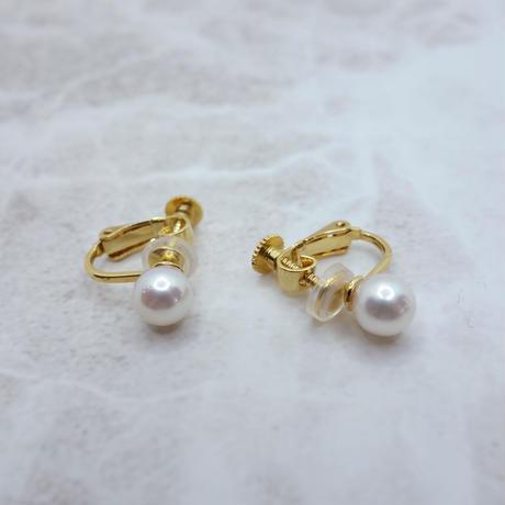 あこや真珠のイヤリング ゴールド