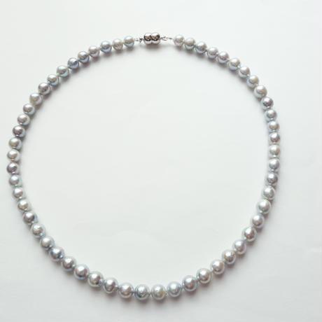 あこや真珠 ブルーグレー・バロックパール ネックレス 6.5mm