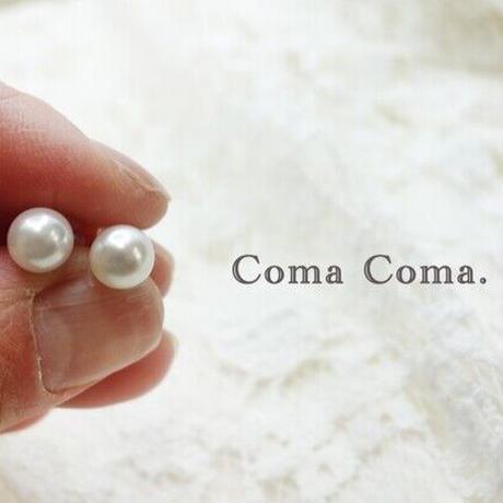 14kgf あこや本真珠のピアス 6㎜