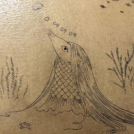 阿部瑞樹 -海の底から-(メディウム剥がし刷り版画)ED10