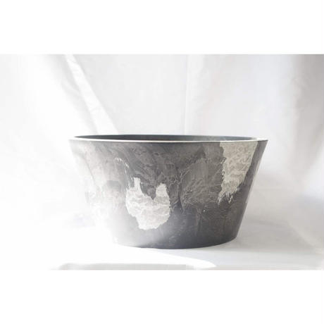 MarblePot30cm(Shallow)/Black with  Light Charcoal