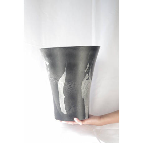 MarblePot25cm(Orchid)/Black with Light Charcoal