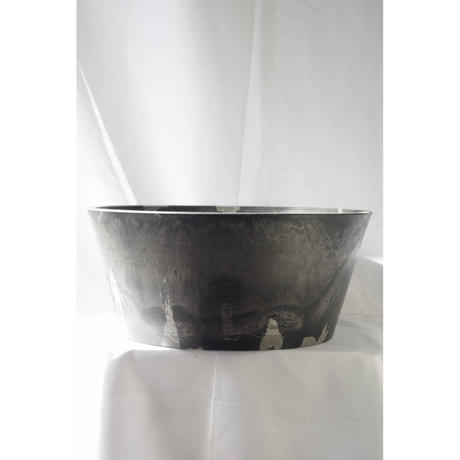 MarblePot40cm(Shallow)/Black with Light Charcoal