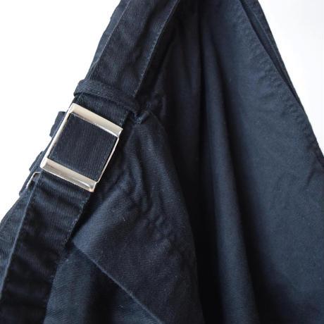 【黒の美ワイドパンツについに遭遇!】MILITARY DEADSTOCK ドイツ軍 ベルト付きワークパンツ 後染めブラック