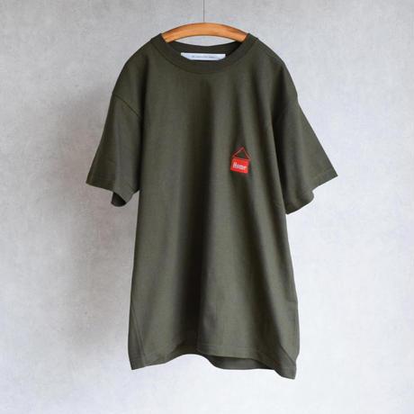 "EEL Products  ""HOME"" Tee イール プロダクツ 夏の刺繍Tee ホワイト/ブラック/オリーブ"
