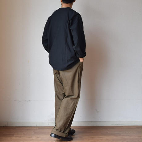 【スリーピングシャツを黒染め!】MILITARY DEADSTOCK  ロシア軍スリーピングシャツ 後染めブラック
