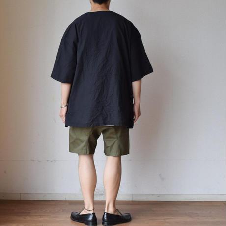 EEL Products  イール プロダクツ チロリシャツ ブラック/サックス