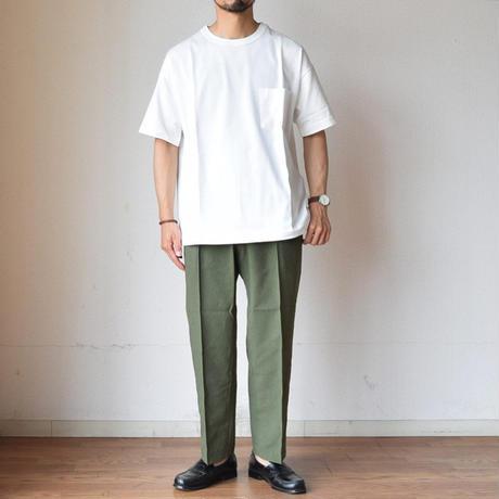 """【タックイン""""風""""スタイルTEE!】A VONTADE 9oz SILKET ATHLETIC T-SHIRTS  ア ボンタージ シルケット ポケットTシャツ ホワイト"""