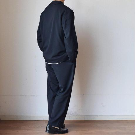 【シーズンレスで使えるカジュアルスーツ!】LA MOND KARSEY STRECH WIDE JACKET&PANTS BLACK/NAVY