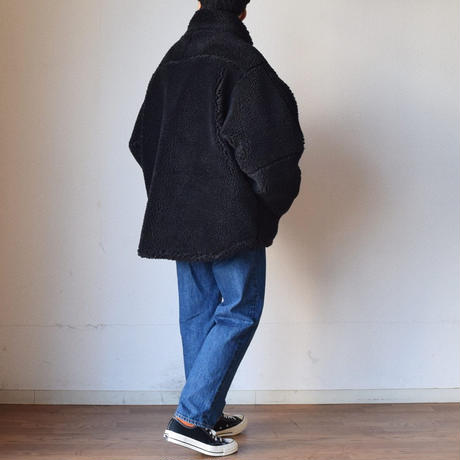 【大人気ミリタリーを最旬素材で!】LEVEL 7 TYPE-1 BIGGEST JACKET ボアフリース オーバージャケット ブラック/ベージュ/ブラウン