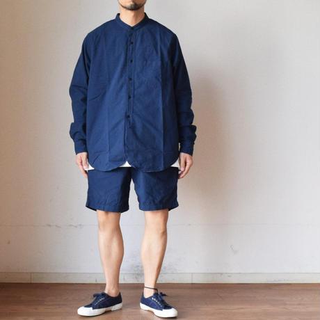 【後染めナイスカラー4色!】F.O.B FACTORY  後染めオックス  バンドカラーシャツ&ショーツ
