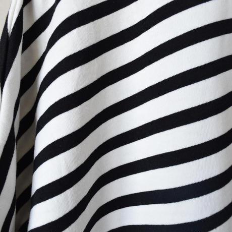 【comoda別注!】AUDIENCE SLIT BORDER TEE オーディエンス サイドスリット  ボーダーT ホワイト×ブラック
