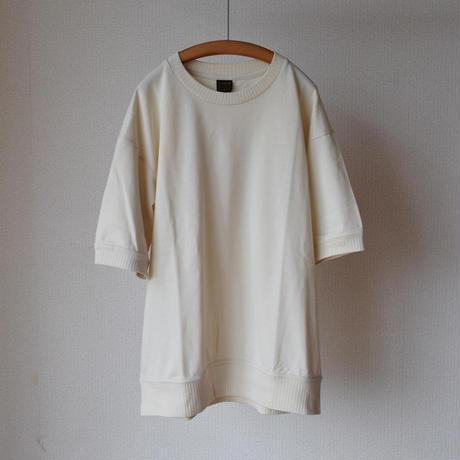 【ベーシックなTシャツにマンネリなら!】A VONTADE PIQUE CRWEW TOP S/S ア ボンタージ  鹿の子 ニットライクT  アイボリー/ブラウン