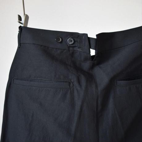 【感動シルエット!】UNITUS CROPPED PANTS ユナイタス  センタープレス セミワイドスラックス ブラック