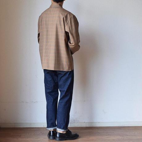 【春先の羽織にも!】STILL BY HAND スティルバイハンド ウォッシャブルウール チェックシャツ  ネイビーチェック/ブラウンチェック