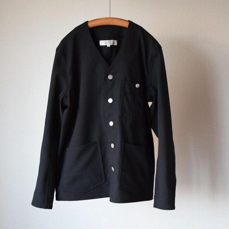 【完売御礼】SETTO  SHRINK TWILL NO COLLAR COVERALL&SMART PANTS BLK セット ノーカラーカバーオール&スマートパンツ ブラック ※単品販売可