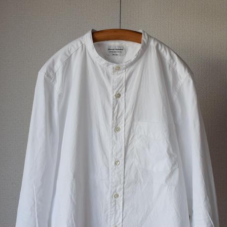 【完売御礼】MANUAL ALPHABET PINOX BAND COLLAR SHIRT マニュアルアルファベット ピンオックスバンドカラーシャツ ホワイト