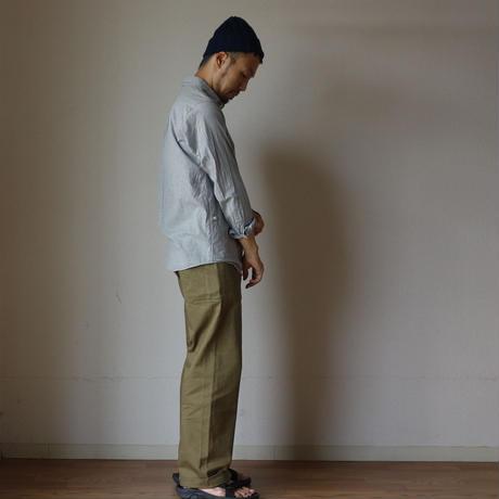 【ラスト1枚!】nisica mokusiro ニシカ モクシロ PULL OVER SHIRT プルオーバーシャツ  グレー GRY