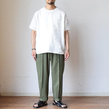 Re made in tokyo japan FRENCH LINEN PULL OVER TEE フレンチリネン リラックスTシャツ