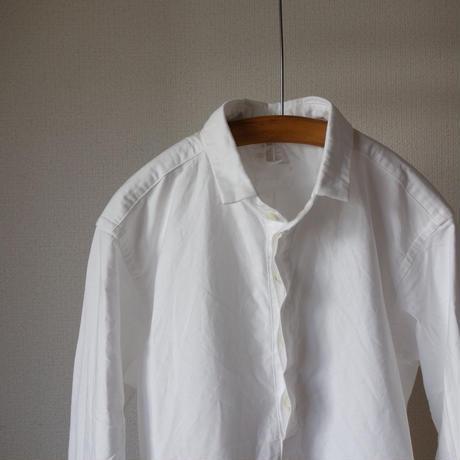 【2016春の新作】nisica mokusiro ニシカ モクシロ PULL OVER SHIRT プルオーバーシャツ  WHT ホワイト UNISEX 男女兼用