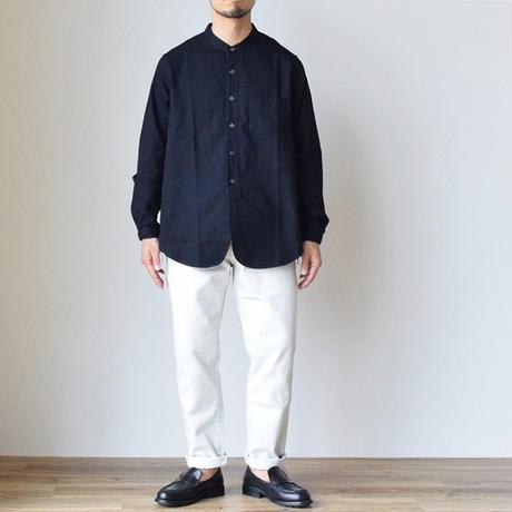 F.O.B FACTORY DENIM BAND COLLAR SHIRT 6oz ライトデニム バンドカラーシャツ