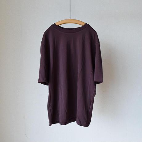 """LA MOND  SUVIN COTTON TEE """"WINE""""ラモンド スビンコットン 1/2スリーブ Tシャツ ワインレッド"""