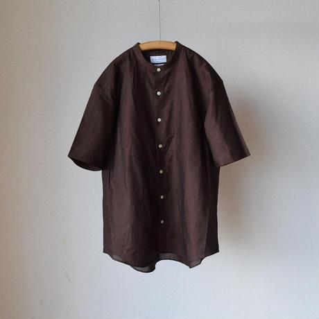 MANUAL ALPHABET LOOSE FIT BAND COLLAR SHIRT マニュアルアルファベット ルーズフィットバンドカラーシャツ ブラウン/オリーブ/ベージュ