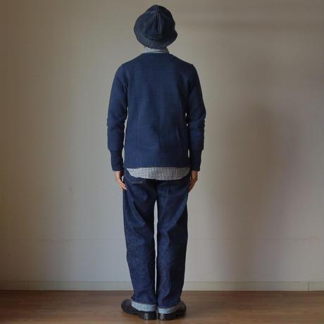 【完売御礼】Re made in tokyo japan アールーイーメイドイントーキョージャパン INDIGO SWEAT CREW CARDIGAN インディゴスウェットクルーカーディガン