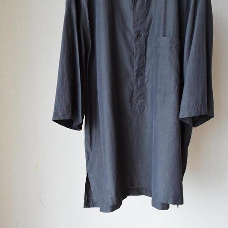 STILL BY HAND スティルバイハンド キュプラコットン プルオーバーバンドカラーシャツ