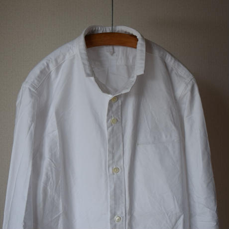 【RECOMMEND】nisicamokusiro  SMALL STAND SHIRT WHTスモールスタンドシャツ ホワイト