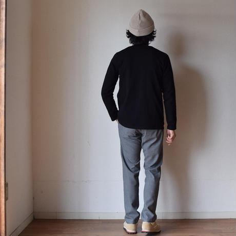 【完売御礼】quotidien  V-NECK CARDIGAN BLK コティディアン 鹿子Vネックコットンカーディガン  ブラック