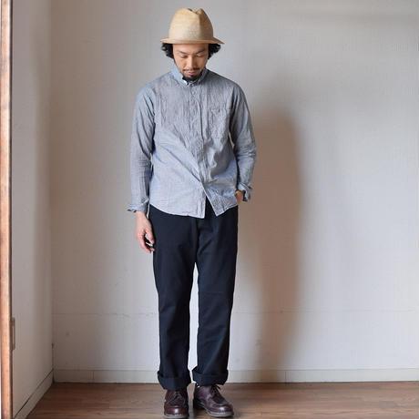 【2017春夏新作】Barns Outfitters SMART WIDE CHINO BLK バーンズアウトフィッターズ スマートワイドチノ ブラック