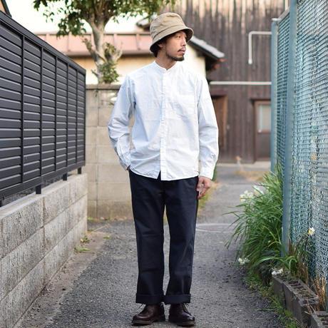【2017春夏新作】Manualalphabet LOOSE FIT BAND COLLAR SHT WHT  マニュアルアルファベット ルーズフィットバンドカラーシャツ ホワイト