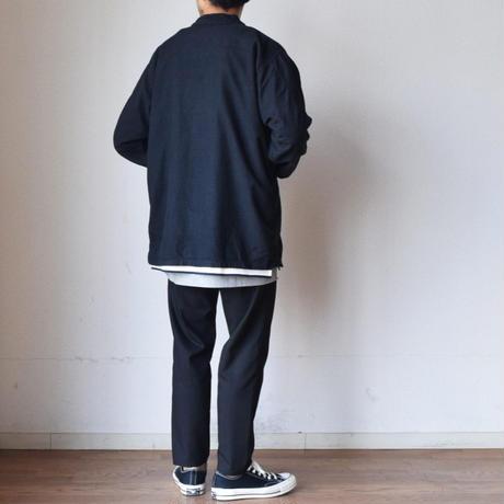【スタンドカラー&フランネル素材!】MILITARY DEADSTOCK  アメリカ軍 スリーピングシャツジャケット 後染めブラック