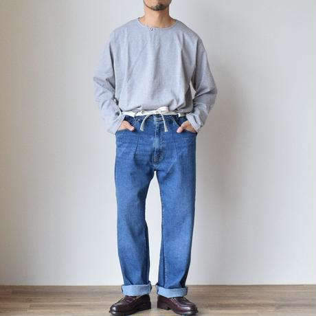 DAWN REMAKE&RESIZE OVER USED DENIM WITH STRING  ベルト付 リメイク ユーズド デニム